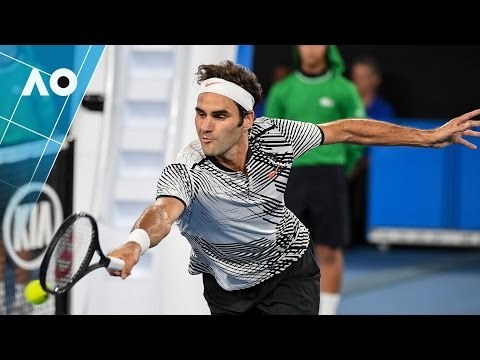 Epic 26 shot rally: Federer v Nadal 5th set (Final) | Australian Open 2017