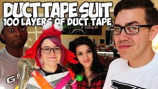 "DUCT TAPE POWER SUIT! ""100 LAYERS OF DUCT TAPE"""