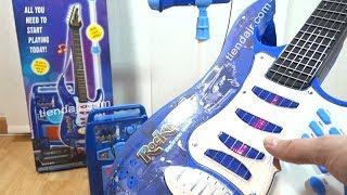 Guitarra Electrica De Juguete Con Amplificador y Microfono
