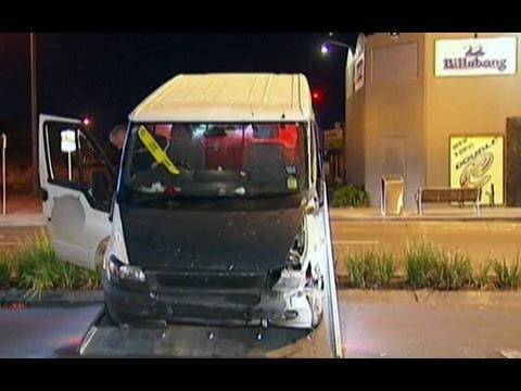 Drunk driver crashes van into Melbourne restaurant