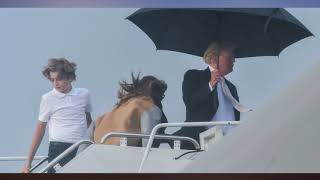 Donald Trump Just Ditched Melania Again to Get Away From the Wind and Rain