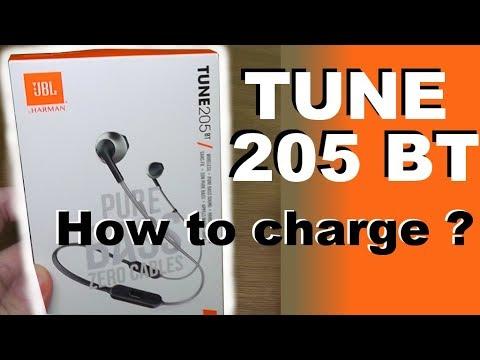 9025cbb41d2 Charging the battery of JBL TUNE 205BT pure Bass bluetooth headphones