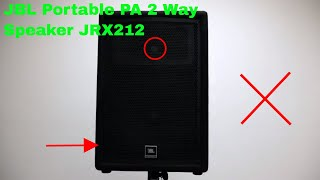 ✅ How To Use JBL Portable PA 2 Way Speaker JRX212 Review