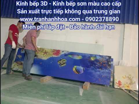 Kính ốp bếp - Kính ốp bếp 3D l Kính ốp bếp sơn màu cao cấp l Giá sỉ l Lắp đặt miễn phí l 0918378890