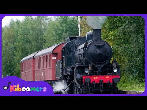 Down By The Station | Trains for Kids | Pufferbellies Song | Down At The Station | The Kiboomers