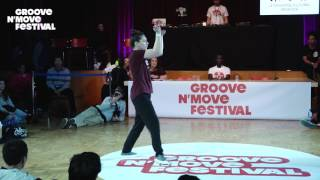 GROOVE'N'MOVE BATTLE 2017 - 1/4 Final Tutting - Leïla vs Serizawa