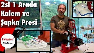 Printec Kalem ve Şapka Presi 2si 1 Arada Tanıtım Videosu