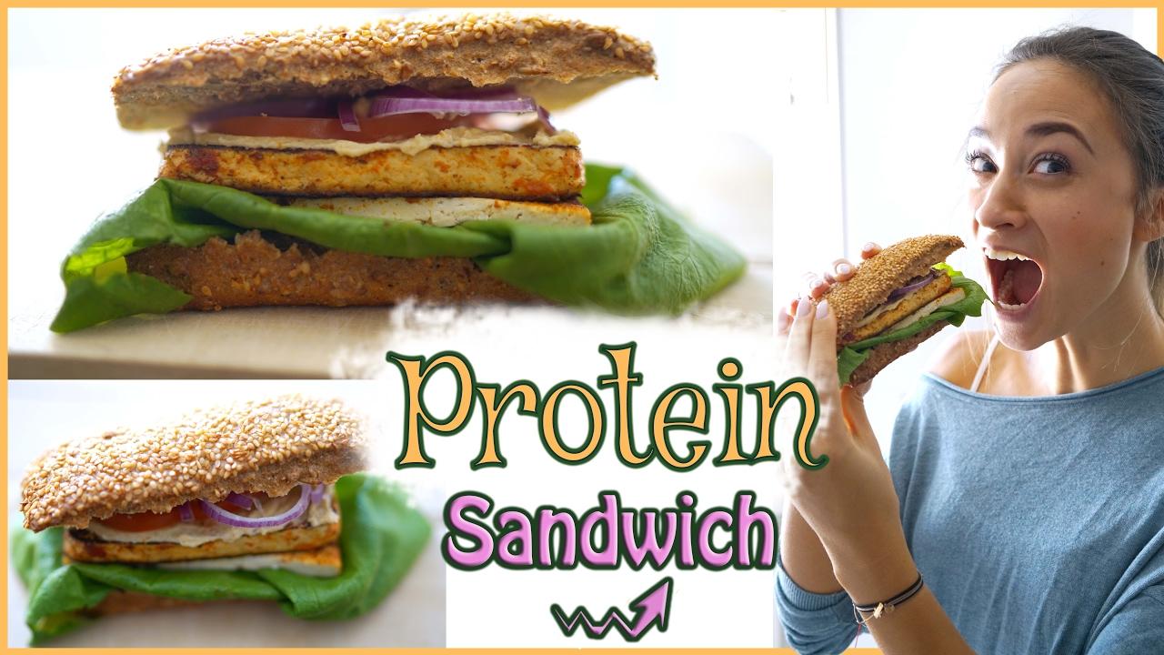 gesundes pausenbrot mittagessen zum mitnehmen veganes sandwich mit viel protein youtube. Black Bedroom Furniture Sets. Home Design Ideas