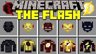 Minecraft THE FLASH MOD l THINKER, FLASH, GODSPEED, ZOOM, SAVITAR! l Modded Mini-Game