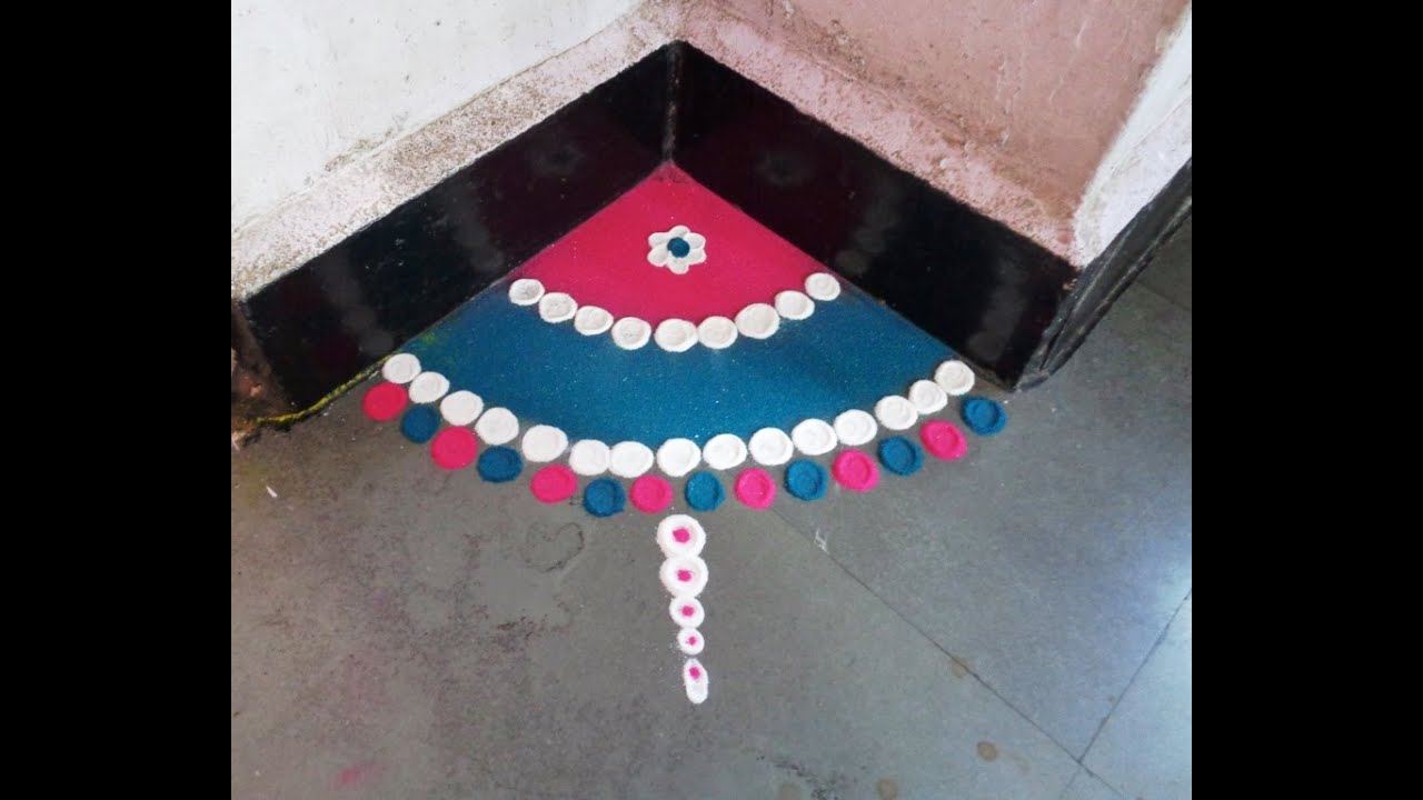small corner rangoli