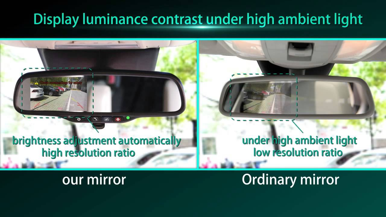 car rearview mirror monitor with backup camera special for onstar and bluelink [ 1280 x 720 Pixel ]