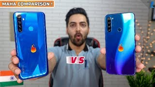 Redmi Note 8 vs Realme 5 - Camera,Display,Performance,Design,Battery & More