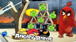DIY Real Life Angry Birds Gameplay | How to Make Angry Birds Gameplay from Cardboard At Home