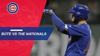 David Bote's heroics vs. the Nationals this season
