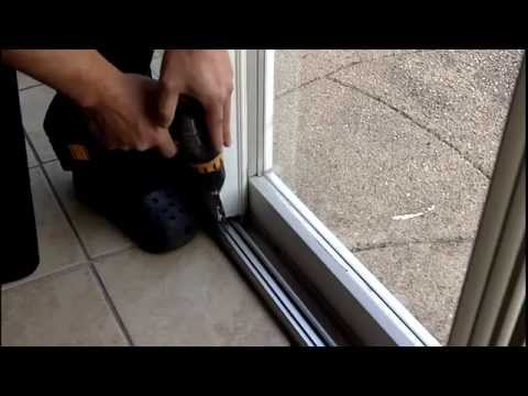 how to install a gliding patio door foot lock