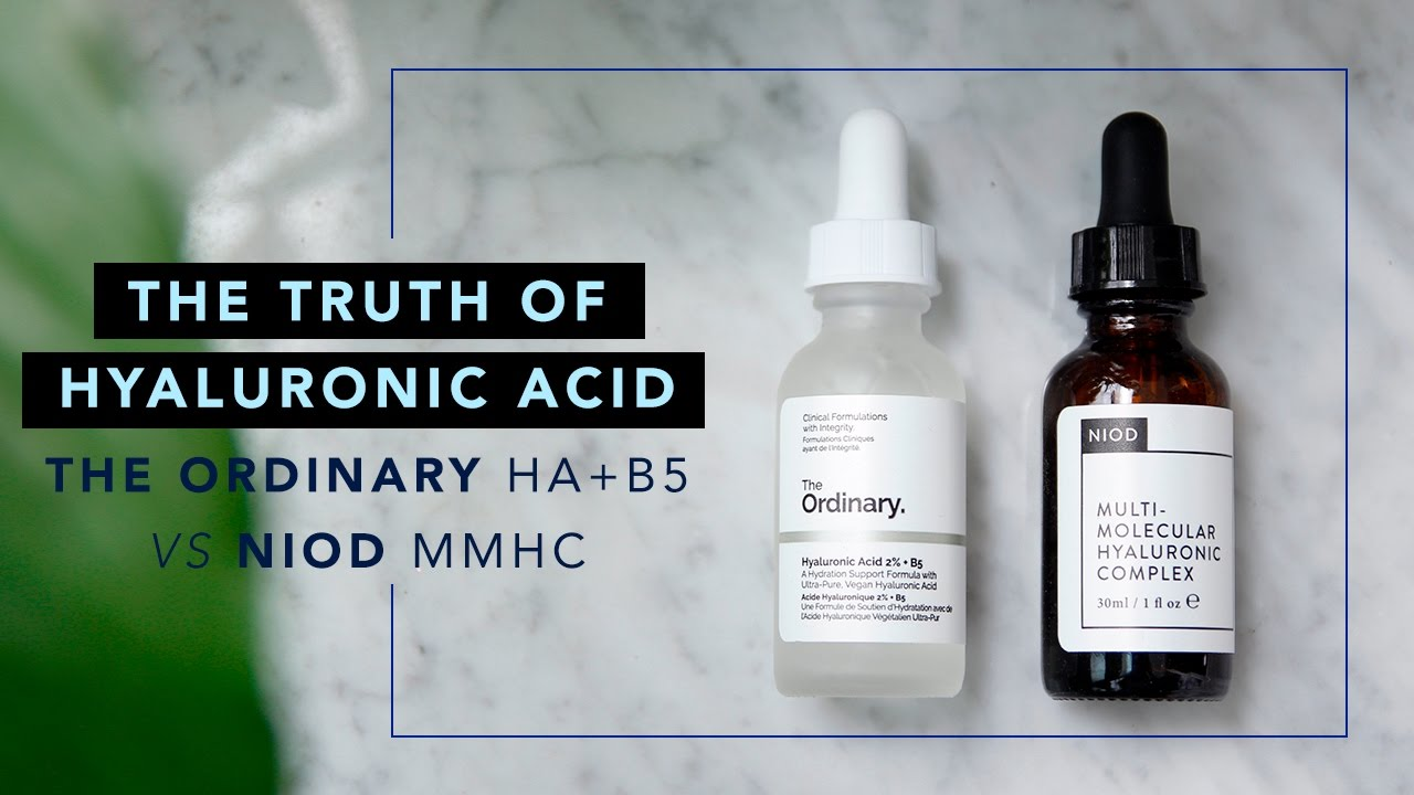 The Truth of Hyaluronic Acid • The Ordinary HA+B5 vs NIOD MMHC