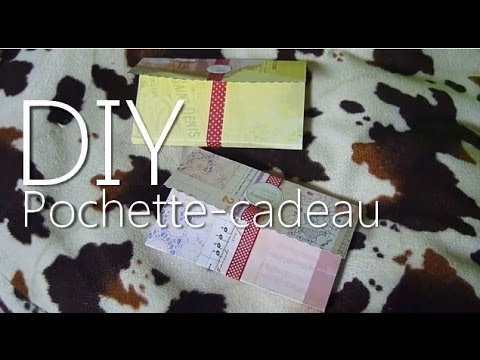 tutoriel diy r aliser une pochette cadeau en papier id e no l youtube. Black Bedroom Furniture Sets. Home Design Ideas