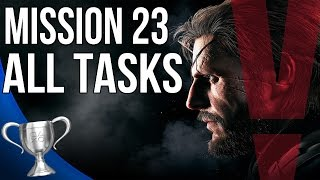 Metal Gear Solid 5 Phantom Pain - The White Mamba All Tasks (Mission 23)