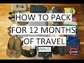 How to Pack for 12 Months of Travel (Male) - Nomatic Travel Bag // Week 19