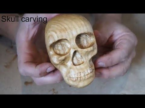 I carved a skull for the first time!!!!