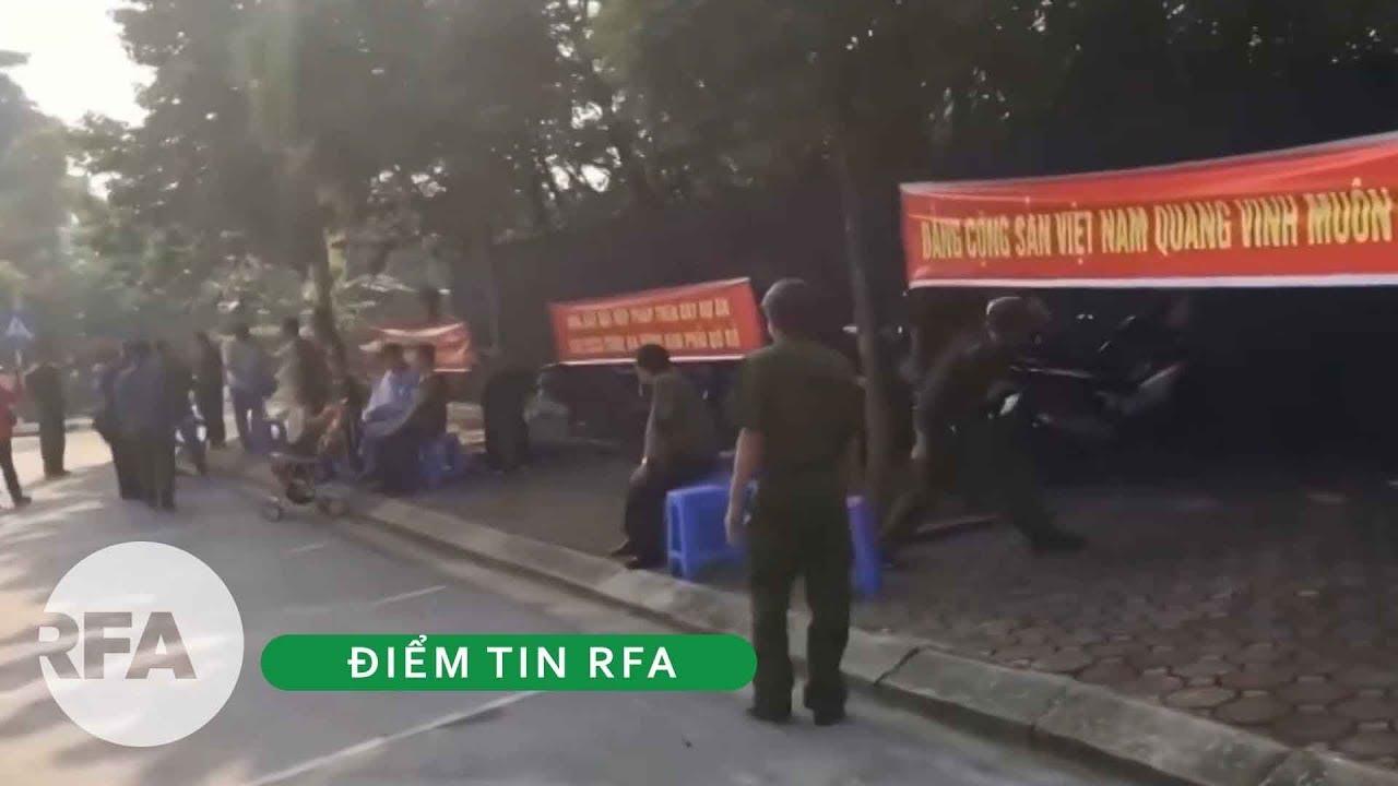 Tin nóng RFA | Hàng chục công an huyện Đông Anh biểu tình đòi đất