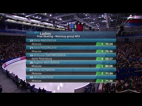 2017 Russian Nationals - Ladies Free Skate Group 3 (Final Group) ESPN