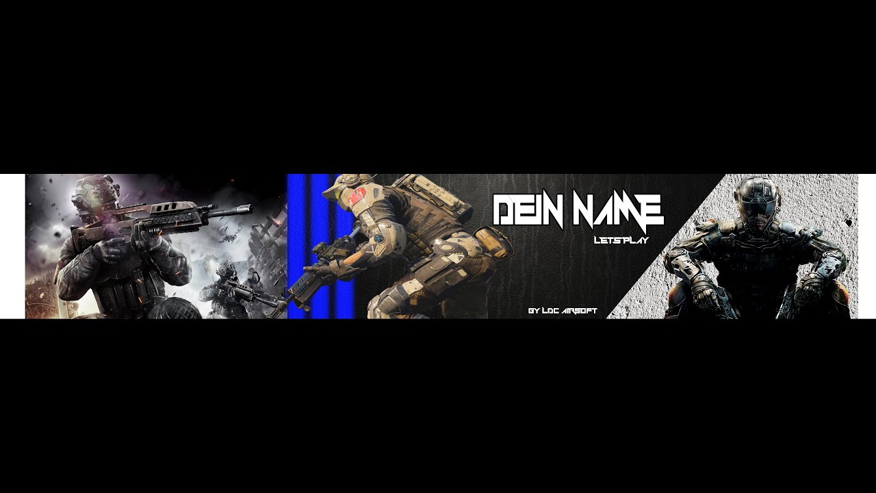 Gimp lets play free banner template - YouTube