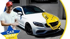 Paul Wallace's Mercedes C63 AMG wrapped in Michelin Rally Car Decal for Goodwood FOS