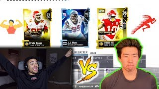 FASTEST PLAYER VS STRONGEST PLAYER DRAFT!! MADDEN 19 MUT DRAFT