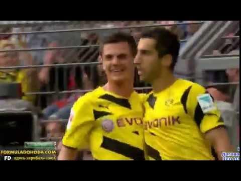 Henrikh Mkhitaryan Great Goal Borussia Dortmund vs Bayern Munich 2 0 13.08.2014
