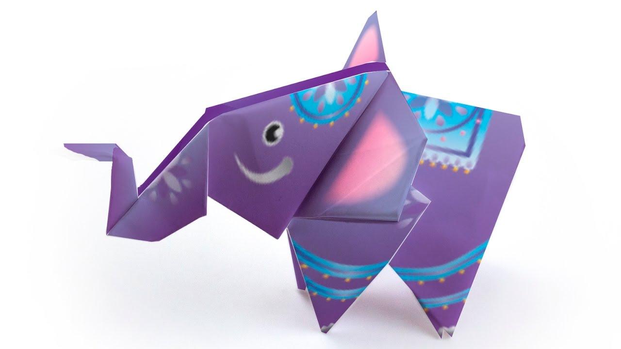 origami elephant tutorial decorigami how to make an