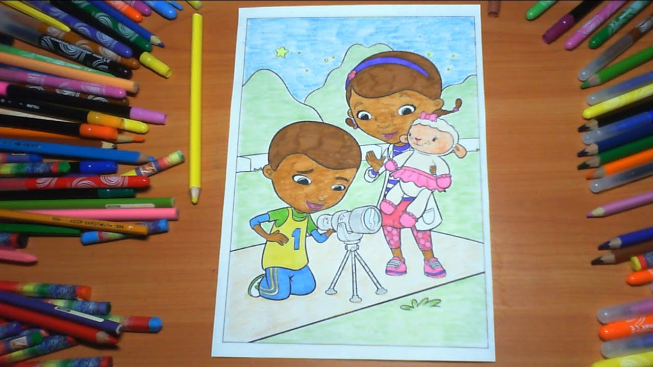 Doc McStuffins New Coloring Pages for Kids Colors Coloring colored ...