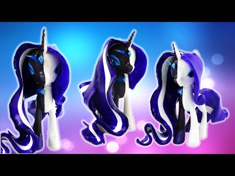 Nightmare Rarity and Rarity Split Pony Transformation - My Little Pony Custom Tutorial