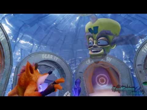 Crash Bandicoot N.Sane Trilogy Comparison - All Hologram Cutscenes (PS4 VS PS1)