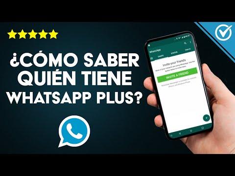 ¿Cómo Saber Quién Tiene WhatsApp Plus?