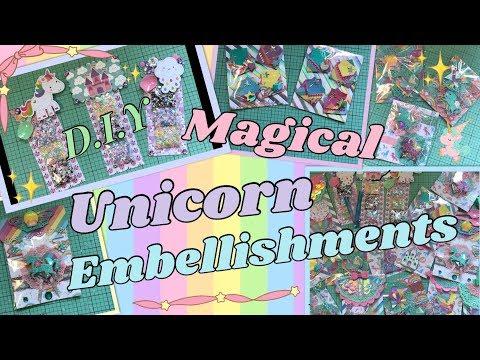 D.I.Y MAGICAL UNICORN EMBELLISHMENTS!!! HAPPY MAIL IDEAS/INSPO!!