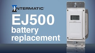 ej500 programmable timer battery replacement