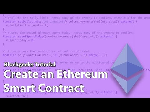 How To Create An Ethereum Smart Contract