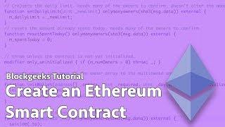 Ethereum Akıllı Bir Sözleşme Oluşturma
