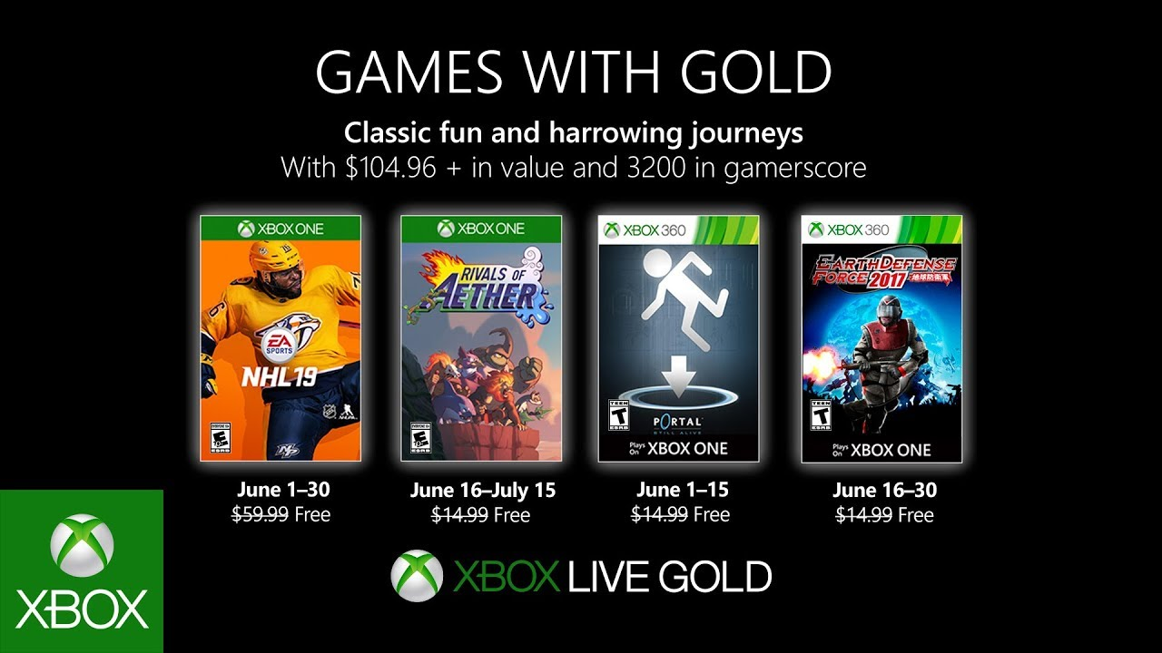Xbox June 2019 Games With Gold Youtube