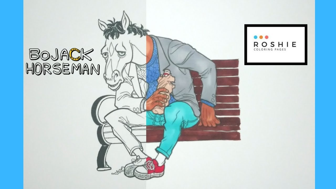 Coloring Bojack Horseman Roshie Coloring Pages Youtube