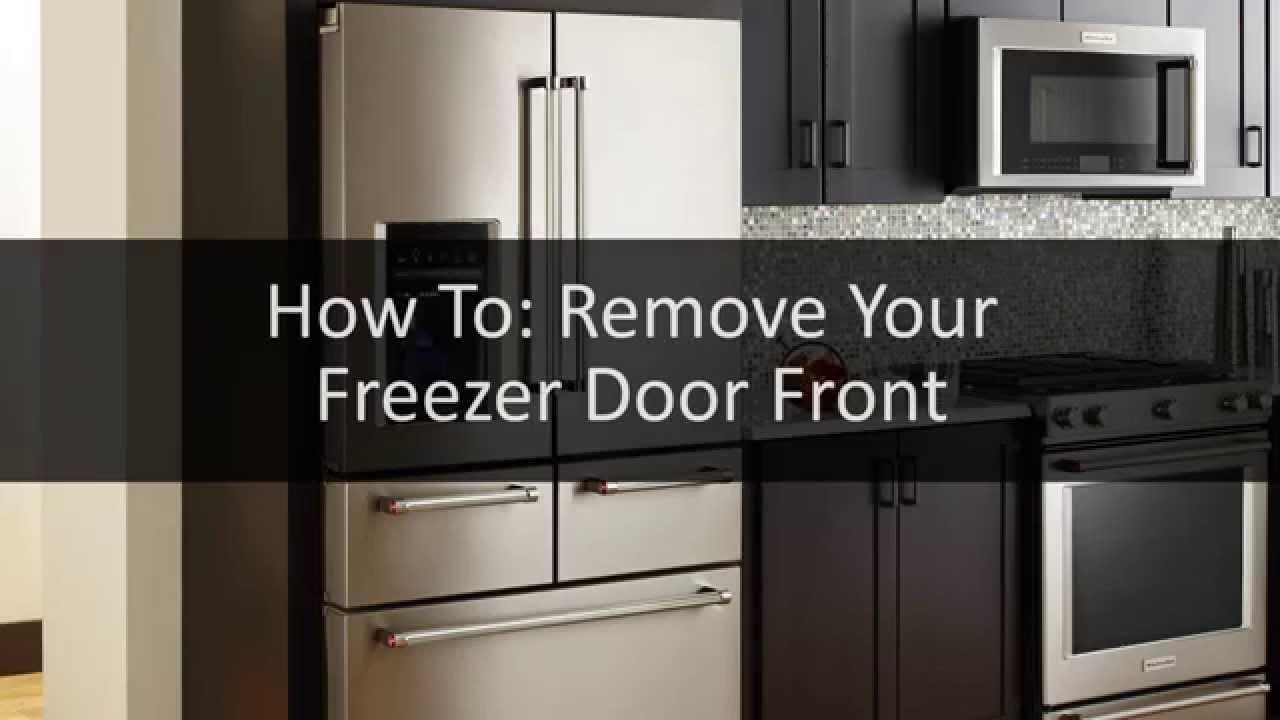 kitchenaid 5 door fridge 4 door how to removing the freezer door front on your fivedoor kitchenaid cameo refrigerator youtube
