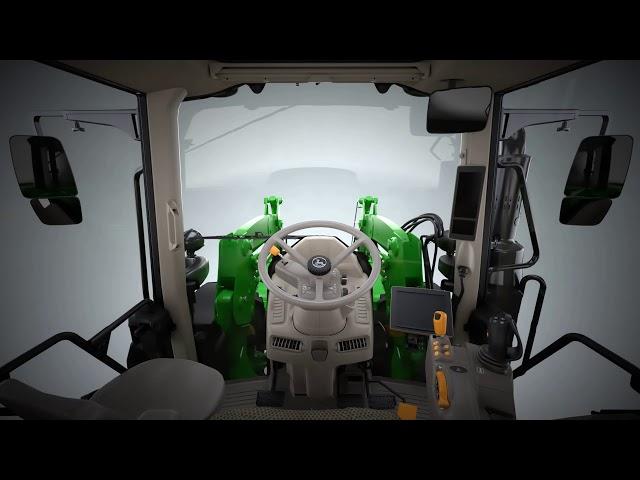 Nuovi trattori 6M John Deere - Animazione a 360 gradi