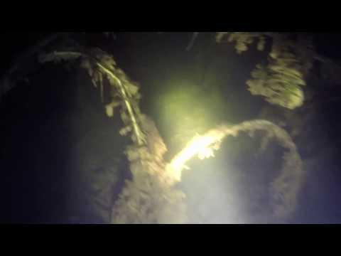 Подводная охота - пруд в деревне