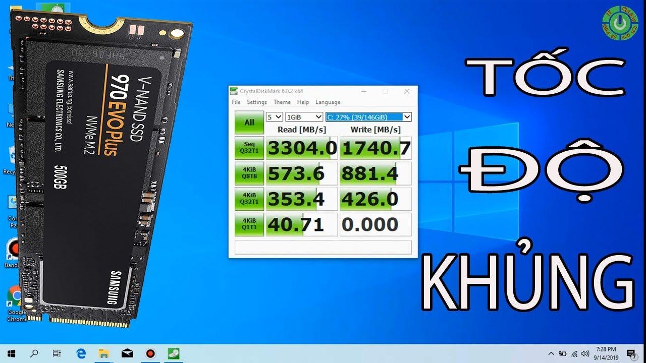 Kiểm Tra Tốc Độ Của SSD NVME Bằng Phần Mềm crystaldiskmark Và Kết Quả Như Mơ - IT CUIBAP