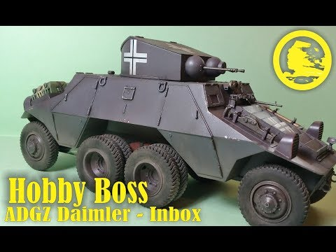 Hobby Boss 1/35 ADGZ Daimler (#83889) full build (part 1 - Inbox, history, livery)