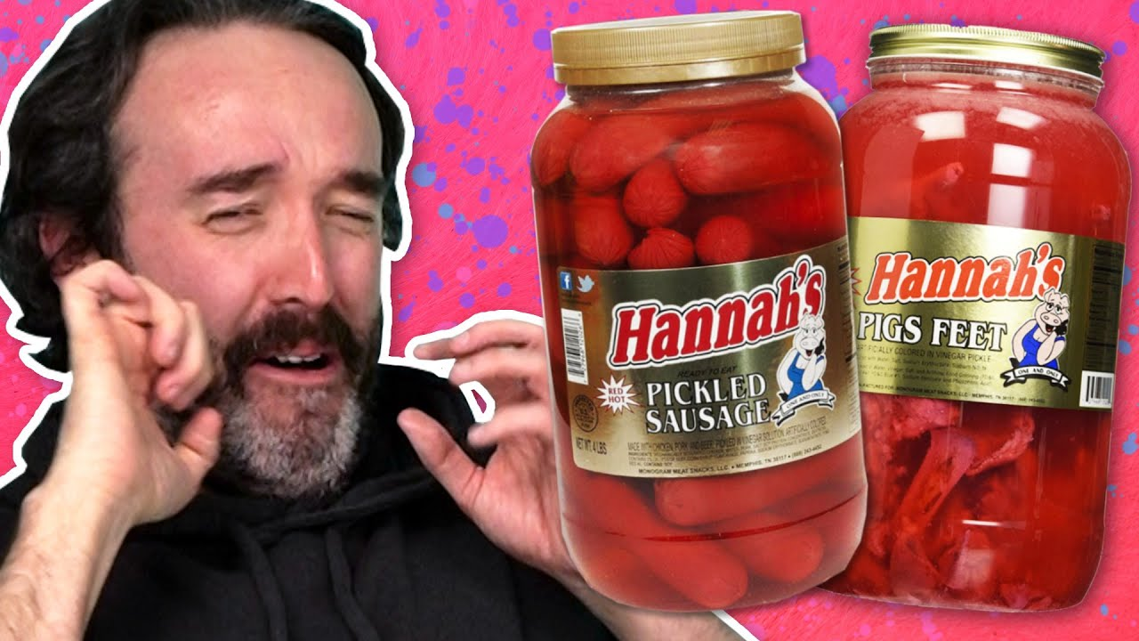 Download Irish People Try Weird Pickled Foods (Pickled Sausage, Pickled Pigs Feet)