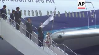 Olympic flag arrives in Tokyo from Rio