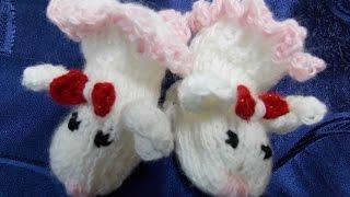 Носки на двух спицах для новорожденных! Вязание для начинающих!
