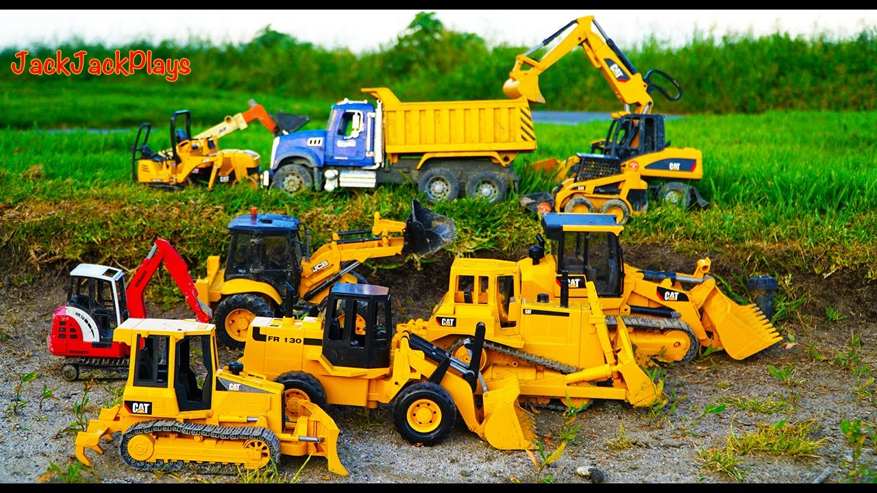 Bruder Construction Vehicles Toys For Kids Diggers